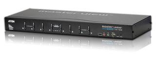 COMMUT KVM 8 PORTS USB DVI-I 19' + Audio , VDS , OSD Supports DVI Digital & DVI Ana
