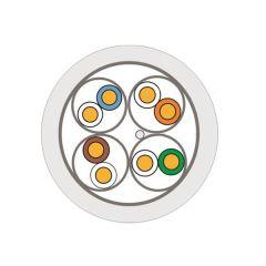 CABLE F/FTP CAT6A 1x4P LSZH 500m  DCA CABLE DE COULEUR BLANCHE