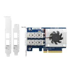CARTE ETHERNET 10Go POUR NAS PC EXPRESS 3.0 x8 2 PORTS - FIBRE OPTIQUE