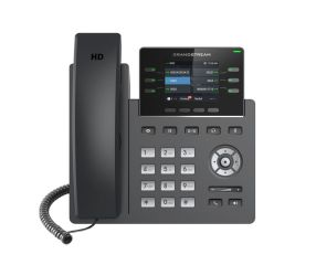 TELEPHONE IP 3 COMPTES SIP POE AVEC  ALIM GIGA 2 ports 10/100 Mbps / Ecran LCD 2,4'/ 6 Touches