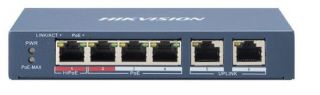 DS-3E0106HP-E SWITCH 4 100M POE + 2 UPLINK BUDGET 60W/300metres