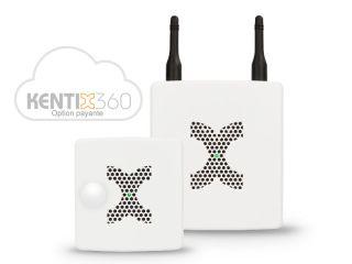 STARTERSET 1 BASIC LAN RADIO ZIGBEE  GSM BLANC ALARMMANAGER BASIC + MULTISENSIR RF