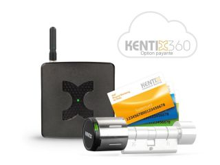 STARTERSET DOORLOCK-DC BASIC NOIR  MIFARE DESFIRE KXC-KN4-IP55 + AccessPoint-LANACCES + 1 BADGE