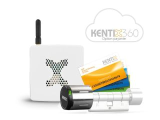STARTERSET DOORLOCK-DC BASIC BLANC  MIFARE DESFIRE KXC-KN4-IP55 + AccessPoint-LANACCES + 1 BADGE