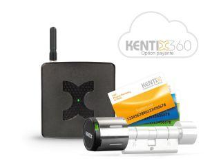 STARTERSET DOORLOCK-DC PRO NOIR MIF ARE DESFIRE KXC-KN4-IP55 + AccessPoint-LANACCES + 1 BADGE