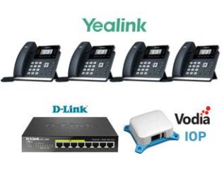 VODIA IoP + 4xT41S YEALINK + DGS-10 08P Configuration inclue  PACK STANDARD PABX