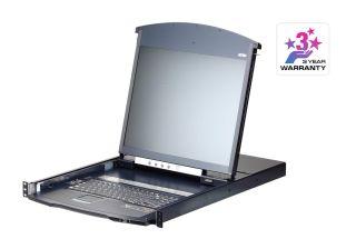 CONSOLE KVM LCD 1U 19' 8 PORTS AVEC ECRAN 17'