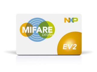 BADGES MIFARE DESFIRE EV2 4K NXP /pcs  13,56MHz FORMAT CARTE DE CREDIT