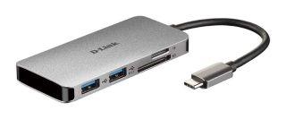 HUB USB-C 6-EN-1 LECTEUR DE CARTES  SD/MICRO SD