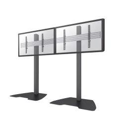 SUPPORT MUR D'IMAGE AU SOL FIXE 2 ecrans plats jusqu'a 55'/65' / Charge 60kg