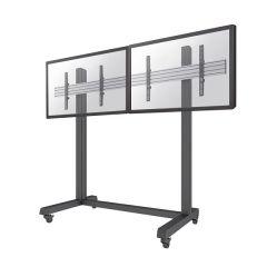 SUPPORT MUR D'IMAGE AU SOL MOBILE 2 ecrans plats jusqu'a 55'/65' / Charge 60kg