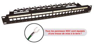 PANNEAU 1U 19' Cat5E equipe 24 RJ45 noir