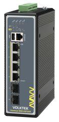 SWITCH 4x 802.3bt PoE++ & 2SFP 240W  75 C Switch industriel Hawkeye 9060-4GP2GS-240W-I