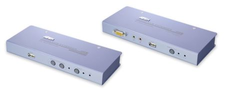 AMPLI LIGNE CLAV USB+ECRAN VGA RJ45 AUDIO / AVEC PORTS USB POUR PERIPHERIQUES