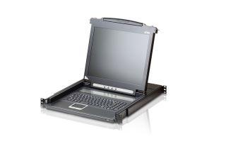 CONSOLE KVM 1U 19' ECRAN LCD 17' AVEC ECRAN LCD 17' + CLAVIER + SOURIS