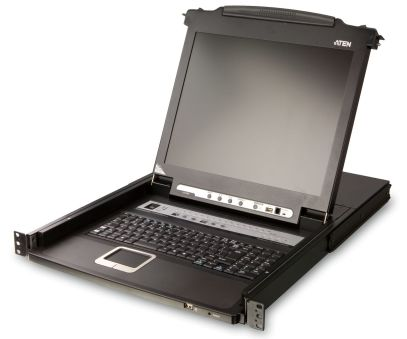 CONSOLE MANAG. 8 CPU 1U 17' LCD AVEC ECRAN 17' + CLAVIER + TRACKBALL