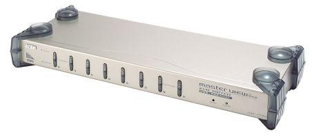 COMMUT USB 1 KVM => 8 CPU USB/PS2 19' POUR PC / MAC / LINUX / SUN / AUDIO