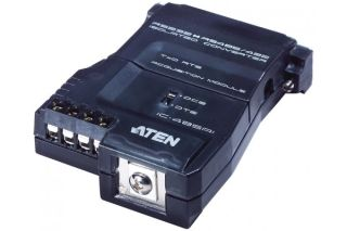 Convertisseur rs232/rs485-422 bidirectionnel db25m & bornier 4 fils