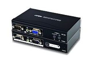 AMPLI LIGNE ECRAN LCD+SPEAKER/RJ45 JUSQU'A 150M / 1600x1200 / 2 LCD/SPEAKER