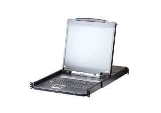 CONSOLE MANAG. IP 8 CPU 1U 17' LCD AVEC ECRAN 17' + CLAVIER + TRACKBALL