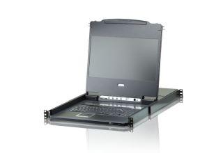 8 PORT 17.3' DVI FULL HD LCD KVM Switch (USB)