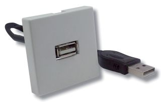 PLASTRON USB 2.0 F/F CORDON 20CM 45x45mm