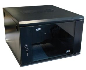 COFFRET 19' 09U P450 Quick Install porte AV Vitree FLATPACK